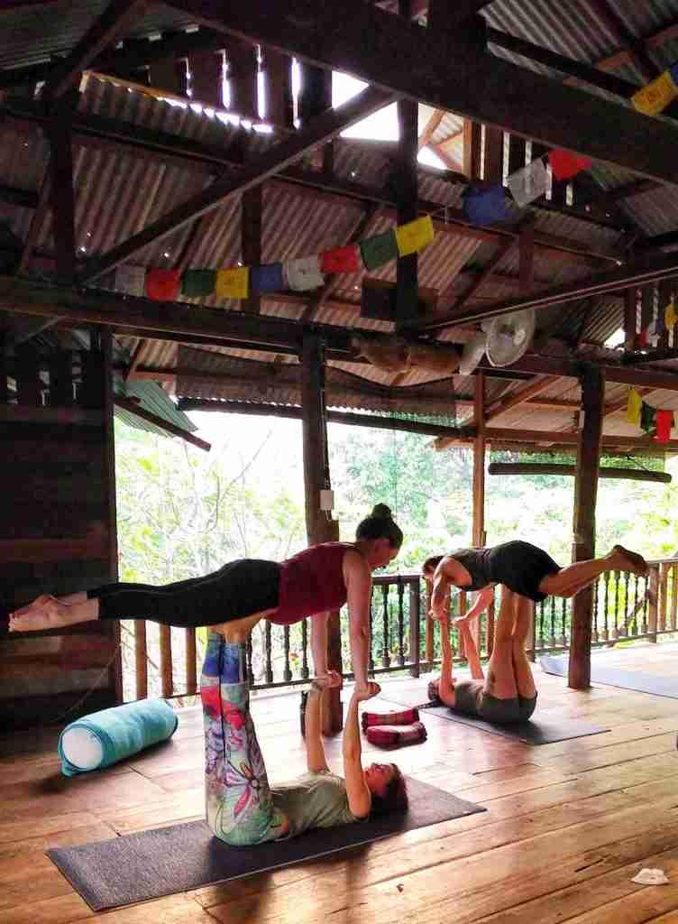 Yoga shala in Chiang Mai Thailand at Suan Sati